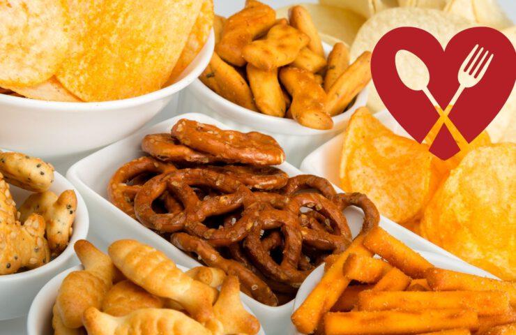 Snacks, snacken, herzhaft